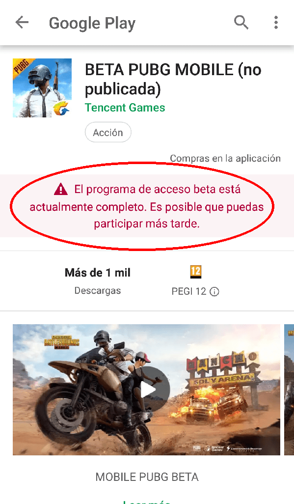 beta PUBG Mobile cerrada
