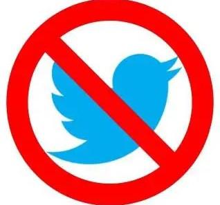 cuenta bloqueada o suspendida de Twitter