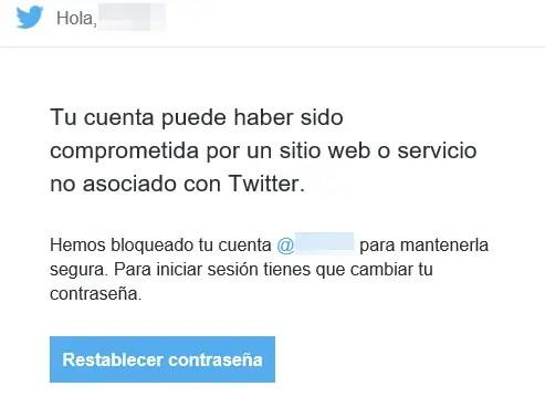 cuenta restringida temporalmente en Twitter