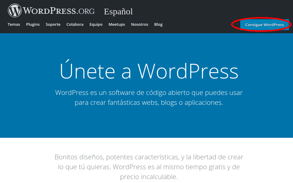 consigue wordpress