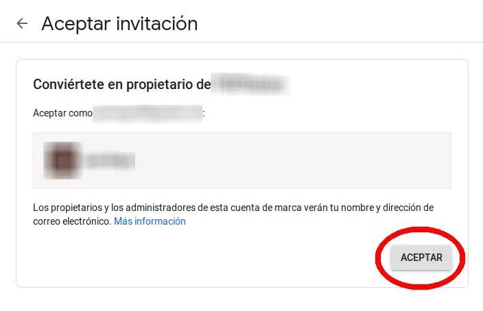 aceptar invitacion
