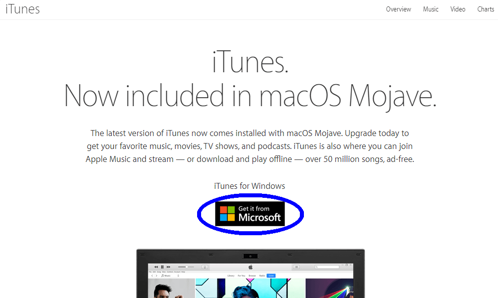 descargar iTunes para Windows 10