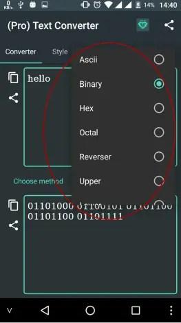 tipo de codificación