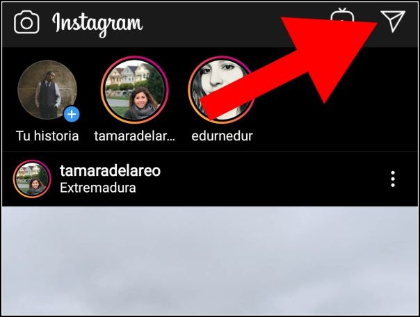 Enviar mensaje inbox en Instagram