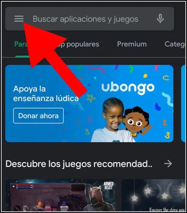 Configuración de Play Store