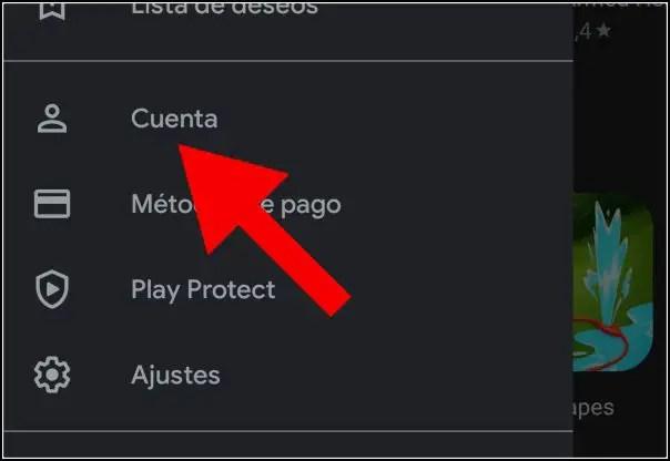 cuenta en Play Store