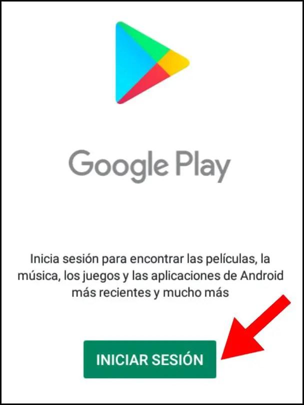 Iniciar sesión en Google Play