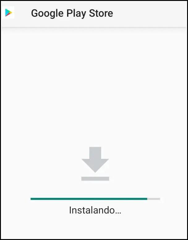 instalando Google Play Store