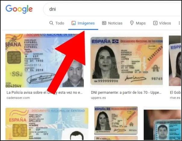 buscar DNI en Google