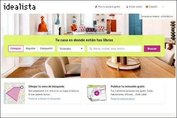 web oficial Idealista