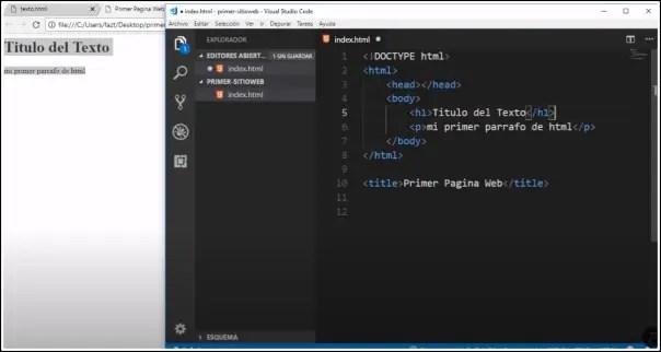 crear web html