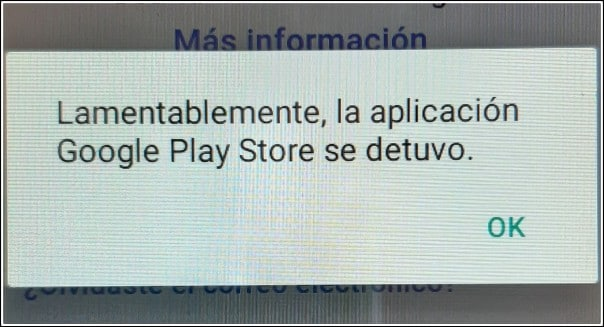 Play Store se detiene