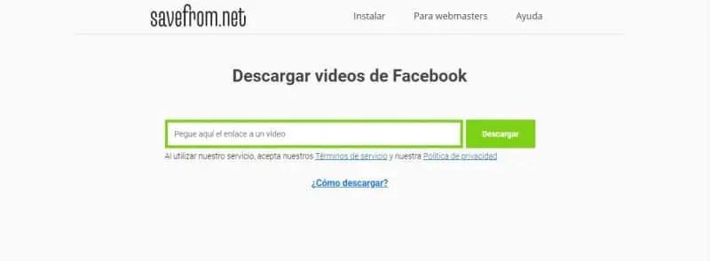 Mejores webs para descargar vídeos privados de Facebook_save from net