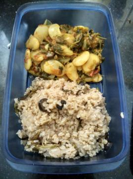 Brown Rice with Mint and Olives
