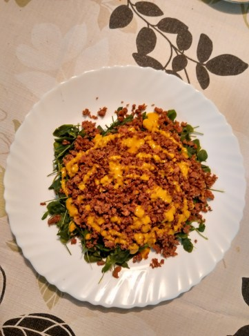 Steamed Fenugreek and Minced Meat