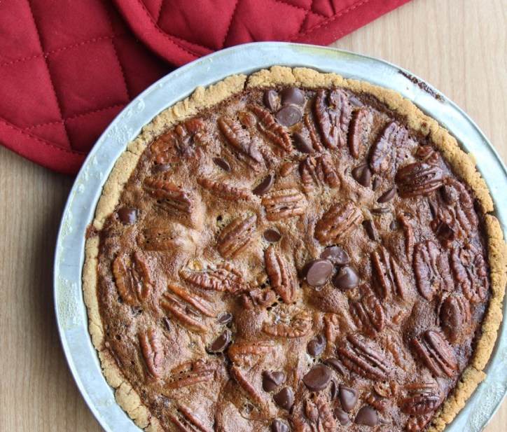 Our Favorite Chocolate Pecan Pie (Paleo, GF, Dairy Free )