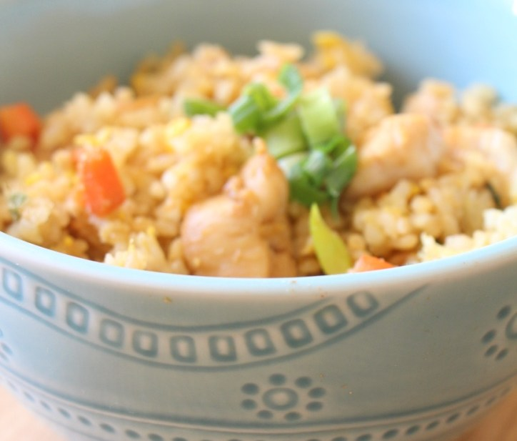 Healthified Cantonese style Chicken Fried Rice (雞肉炒飯)