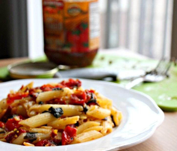 Quick Sun-dried Tomato Basil Pasta (Oil-Free, GF)