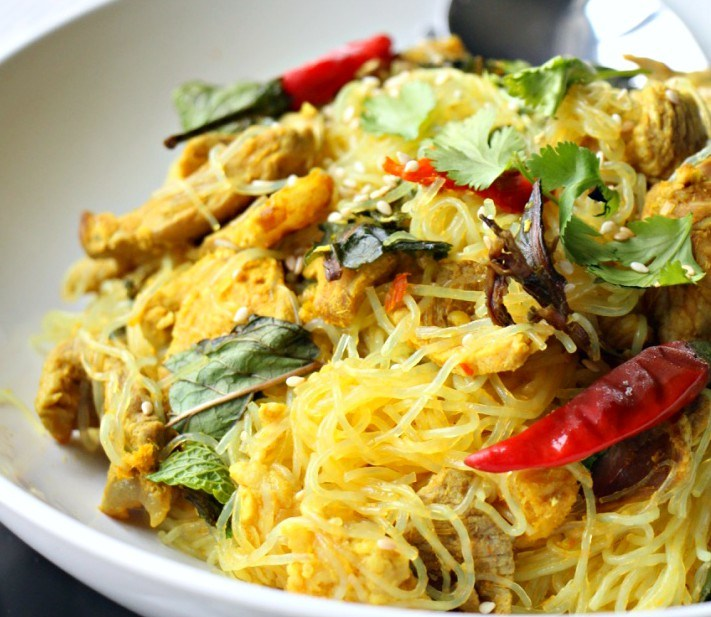 MasterChef Recipe: Thai Vermicelli with Lemongrass & Pork (GF, Oil-Free)