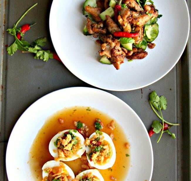 Thai Charred Salt & Chili Chicken + Yum Kai Tom (GF, Nut Free, Oil-Free)