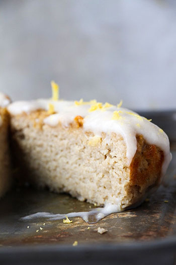 100 Calorie Starbucks Copycat Lemon Loaf (Paleo, Oil-Free)