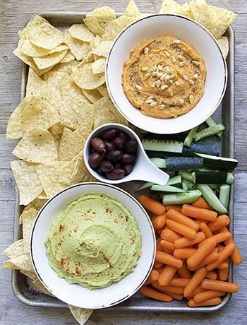 Hummus 2 Ways: Avocado, Pine Nut (Tahini-Free, Oil-free, Vegan)