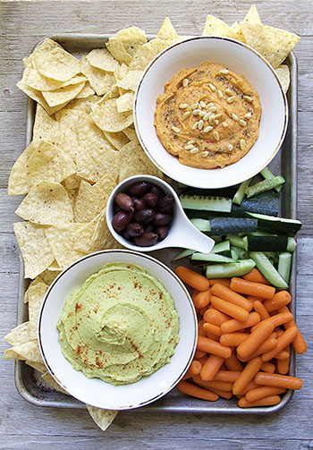 Hummus 2 Ways: Avocado, Pine Nut (Tahini-Free, Oil-free, Vegan)