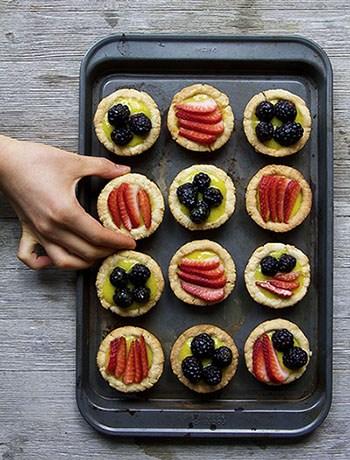 EASY Vegan French Patisserie Fruit Tarts (Paleo, GF, DF)