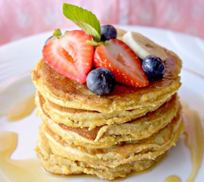 Fluffy Coconut Flour Pancakes (Paleo, GF, DF)