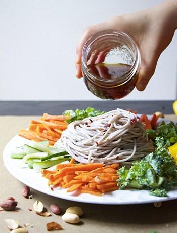 Chilled Korean Soba Noodles (GF, Vegan, Vegetarian)