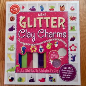 Glitter Clay Charms by Klutz