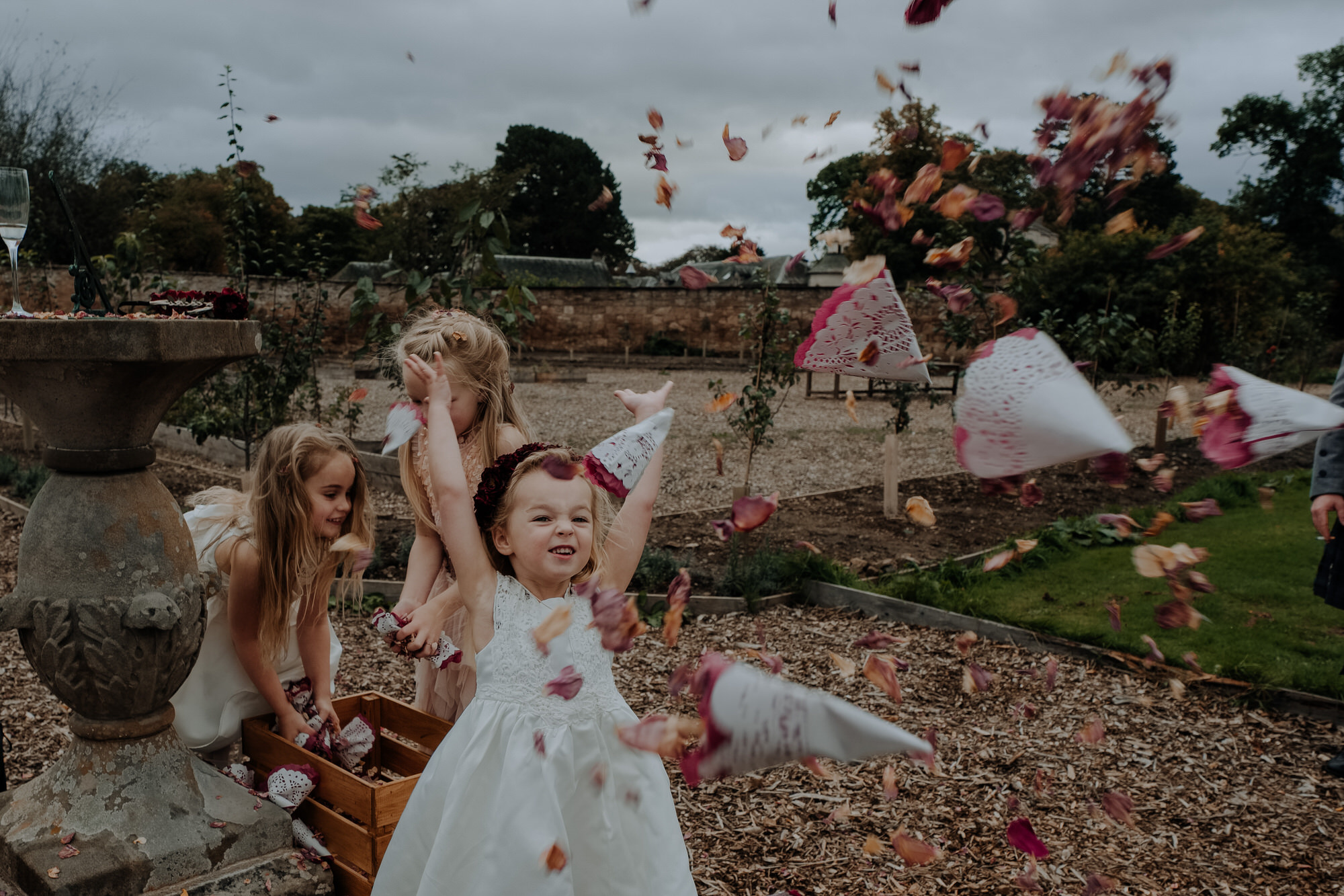 Christine McNally Photograhy1 - Confetti flower girl playful photography