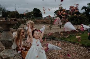 Christine McNally Photograhy1 - Confetti flower girl playful photography