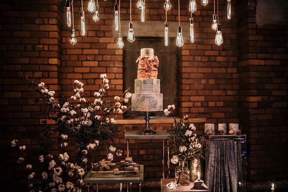 The Urban wedding company 2 - cake - edison bulks - industrial - alternative - unconventional