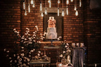 The Urban wedding company 2 - cake - edison bulks - industrial - alternative - unconventional
