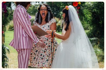 Michelle funky celebrant 1 - wedding ceremony - outdoor