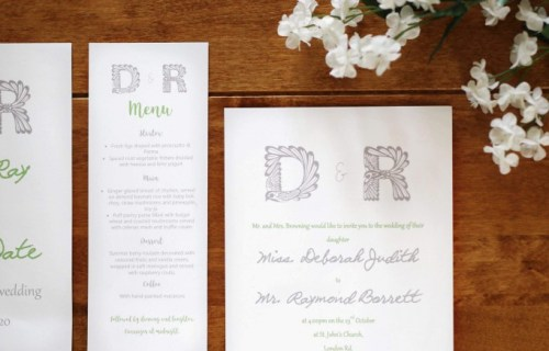 Inked by Hand Wedding Stationery 5