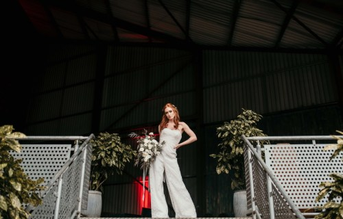 The Urban wedding company - bride and jumpsuit