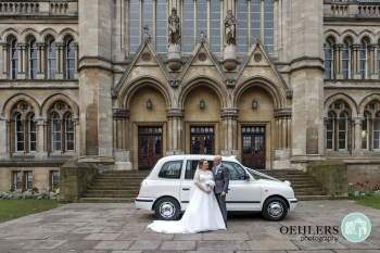Getting There on Time in the White London Taxi - Alternative Wedding Transport - Unconventional Wedding - derby wedding car - nottingham wedding car - white taxi weddings