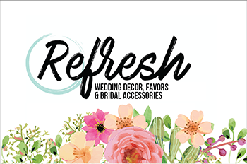 Refresh restyle wedding decor - logo