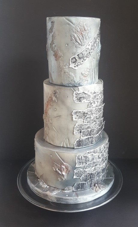 Urban Cakehouse - alternative royal wedding - silver wedding cake