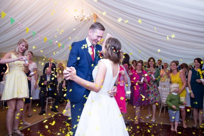 Rebecca Kathryn Photography - first dance confetti photo
