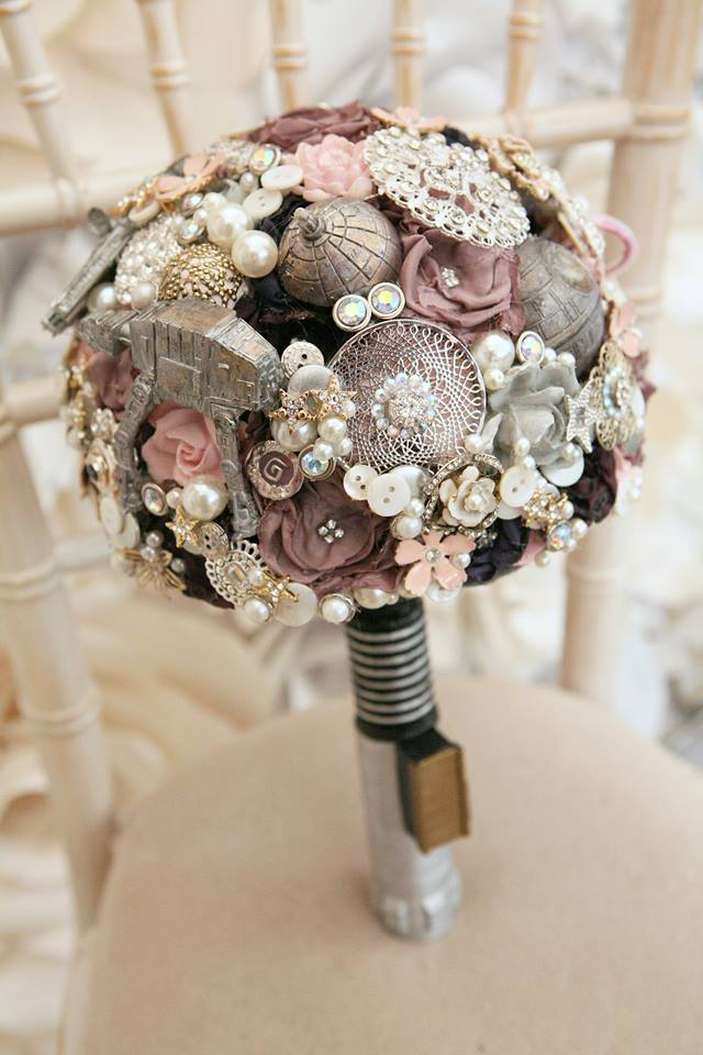 Maddison Rocks Floral Sculptures - star wars wedding - alternative wedding bouquet - alternative wedding accessories