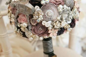Maddison Rocks Floral Sculptures - star wars wedding - alternative wedding bouquet - alternative wedding accessories
