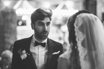Guide to a celebrant wedding blog - thomas thomas photography - groom at the altar