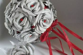 an unconventional royal wedding - the florigamist - alternative bouquet - paper bouquet