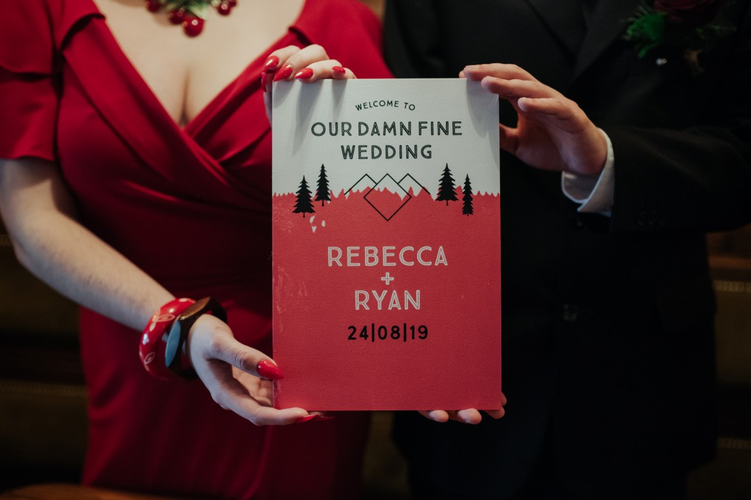 A Twin Peaks Wedding Styled Shoot - alternative - unconventional - wedding invitation - stationery
