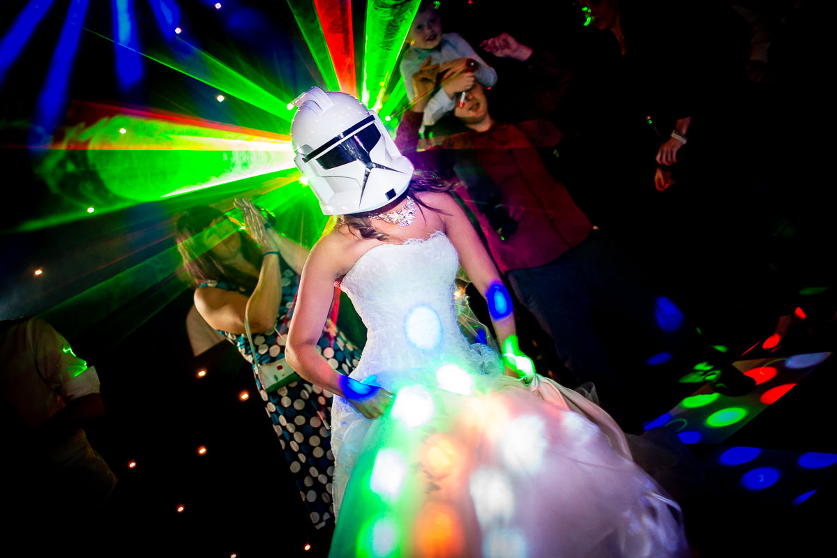 Lina and Tom Wedding Photography - Star wars wedding - disco - alternative wedding - unconventional wedding