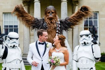 Star Wars Banner 1 - Lina and Tom Photography - alternative unconventional wedding