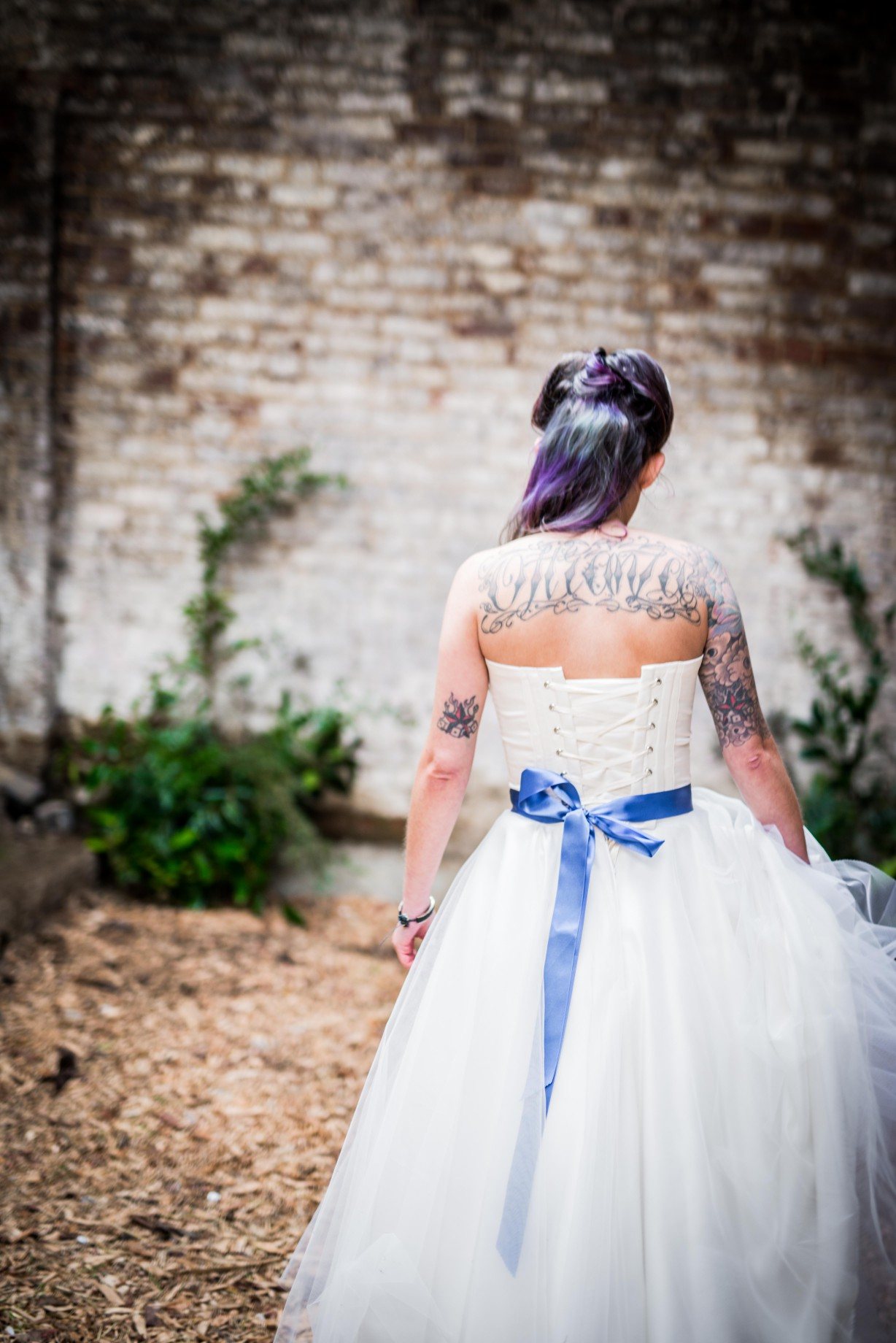 Peacock barns - alternative unconventional wedding photoshoot - rustic decadent - bride dress